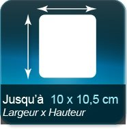 Autocollant & Étiquette Jusqu'à 100x105mm