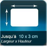 Autocollant & Étiquette Jusqu'à 100x30mm