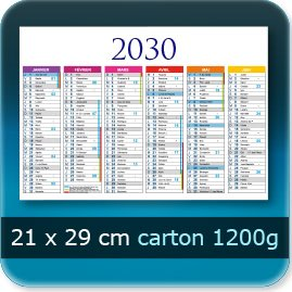 Calendriers 210x290mm carton 1200g
