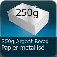 Flyers 250g Chromolux Argent recto