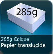 Flyers 285g Calque transparent