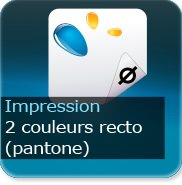 Liasse/Carnet autocopiant 2 Pantone recto
