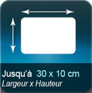 Autocollant & Étiquette Jusqu'à 300x100mm