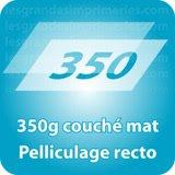 Autocollant & Étiquette 350g couché mat Pelliculage recto