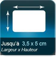 Autocollant & Étiquette Jusqu'à 35x50mm