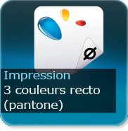 Liasse/Carnet autocopiant 3 Pantone recto