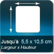 Autocollant & Étiquette Jusqu'à 55x105mm