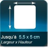 Autocollant & Étiquette Jusqu'à 55x50mm