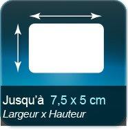Autocollant & Étiquette Jusqu'à 75x50mm