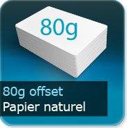 Carnets de tickets Offset 80g blanc
