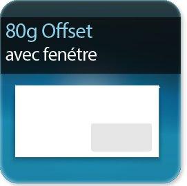 Enveloppes 80g Offset avec fenêtre