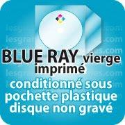 CD DVD Gravure & Packaging Impression BLU-RAY vièrges livré sous pochette plastique