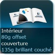 Brochures / Magazines Couverture 135g brillant / Intérieur 80g offset