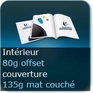 Brochures / Magazines Couverture 135g mat / Intérieur 80g offset