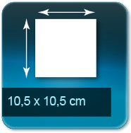 Autocollant & Étiquette carré 105 x 105 mm