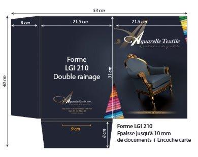 Chemises à rabats forme lgi 210 - 3 rainages (jusqu a 10mm de documents + fente carte de visite