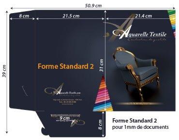 Chemises à rabats forme standard 2 lgi 200 - 1 rainage (jusqu a 2mm de documents + fente carte de visite