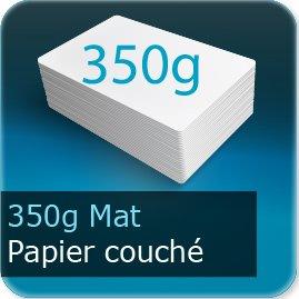 Cartes postales 350g couché mat