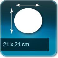 Autocollant & Étiquette diamètre 210 mm