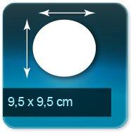 Autocollant & Étiquette diamètre 95mm