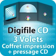 CD DVD Gravure & Packaging DigiFile CD 3 VOLETS