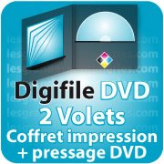 CD DVD Gravure & Packaging DigiFile DVD 2 VOLETS