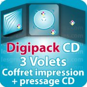 CD DVD Gravure & Packaging Digipack CD 3 VOLETS