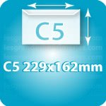 Enveloppes Enveloppe C5 162 X 229 mm, Fermeture Patte trapézoïdale autocollante avec bande de protection