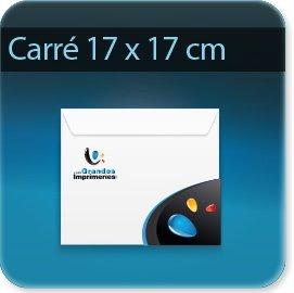 Enveloppes Enveloppe carré  170X 170 mm, Fermeture Patte trapézoïdale autocollante avec bande de protection