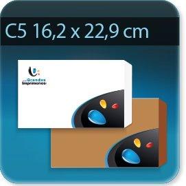 Enveloppes C5 162 X 229mm , Fermeture Patte trapézoïdale autocollante avec bande de protection