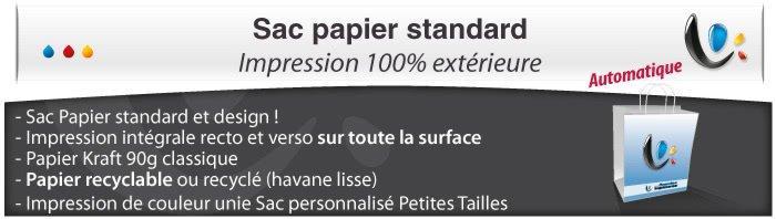 Sac Publicitaire Sac Papier - Impression totale éxterieur