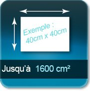 Autocollant & Étiquette jusqu à 1600 cm²