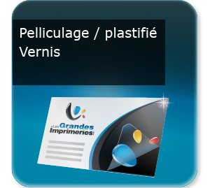 Flyer, prospectus, tract Pelliculage Soft Touch Prestige avec pelliculage ou vernis