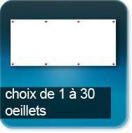 Baches / Banderoles Jusqu'à 6 oeillets par m²