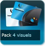Badge Option Prix pour 4 visuels différents (quantité représente le totale des 4 visuels)