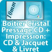 CD DVD Gravure & Packaging Pressage CD sous boitier cristal10mm