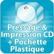 CD DVD Gravure & Packaging Pressage de CD livré sous pochette plastique