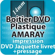 CD DVD Gravure & Packaging Pressage DVD boitier AMARAY14mm