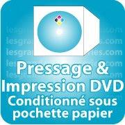 CD DVD Gravure & Packaging Pressage de DVD livré sous pochette papier