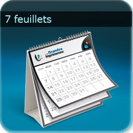 Calendriers 7 feuillets