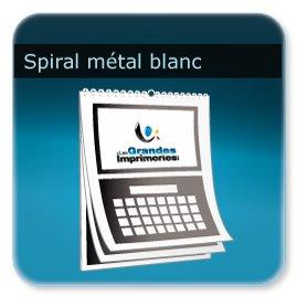 Calendriers Spirale métal blanc