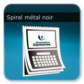 Calendriers Spirale métal noir