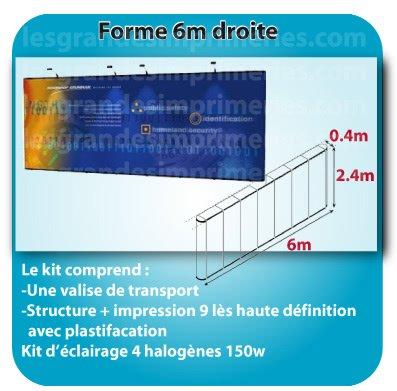 le monde du Stand parapluie Forme double droite compact 6x2.4x0.4m detail sur site