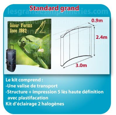 le monde du Stand parapluie Forme standard grande 3x2.4x0.9m detail sur site