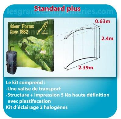 le monde du Stand parapluie Forme standard plus 2.39x2.4x0.63m detail sur site