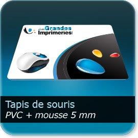 Tapis de souris papier & PVC Pvc 0,3mm + Mousse de 5mm