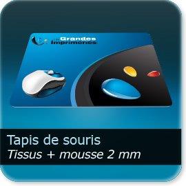 tapis de souris personnalisé Tissus + Mousse de 2mm