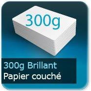 Dépliants / Plaquettes 300g Brillant Couché