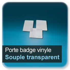Badge Porte badge souple translucide perforé pour badge grand format