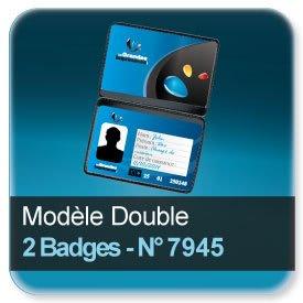 Cartes De Visite Modele 2 Volets Pour Badge N7945
